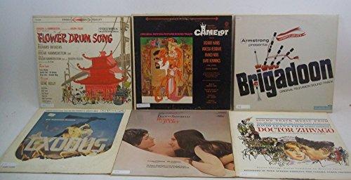 Camelot Vinyl - Musicals & Movie Soundtracks Lot of 5 Vinyl Record Albums Doctor Zhivago, Romeo & Juliet, Flower Drum Song, Camelot, Brigadoon, Exodus