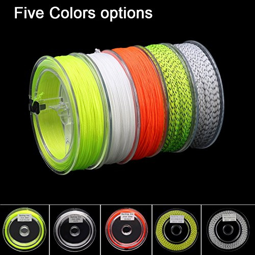 - Aventik Super Slim Braided Fly Fishing Backing Line, 25-30lb High Visible Orange Red, White, Fluorescent Yellow, Yellow+Black, White+Black (White+Black)