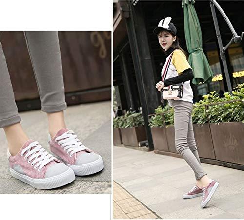 Donna Autunno Sportive Outdoor Basse Scarpe Sneaker Da Ysfu In Studente Fitness Primavera Pizzo Casual Traspirante E Sneakers fqYxwxt
