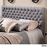 Cheap Grey Tufted Headboard Full Size /Queen Button Nailed Headboard Is an Easy Diy Headboard. Tall Tufted Headboard and Is a Padded Headboard Full Size Studded Headboard