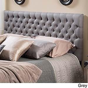 Amazon Com Grey Tufted Headboard Full Size Queen Button