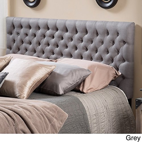 Grey Tufted Headboard Full Size/Queen Button Nailed Headboard is an Easy DIY Headboard. Tall Tufted Headboard and is a Padded Headboard Full Size Studded Headboard