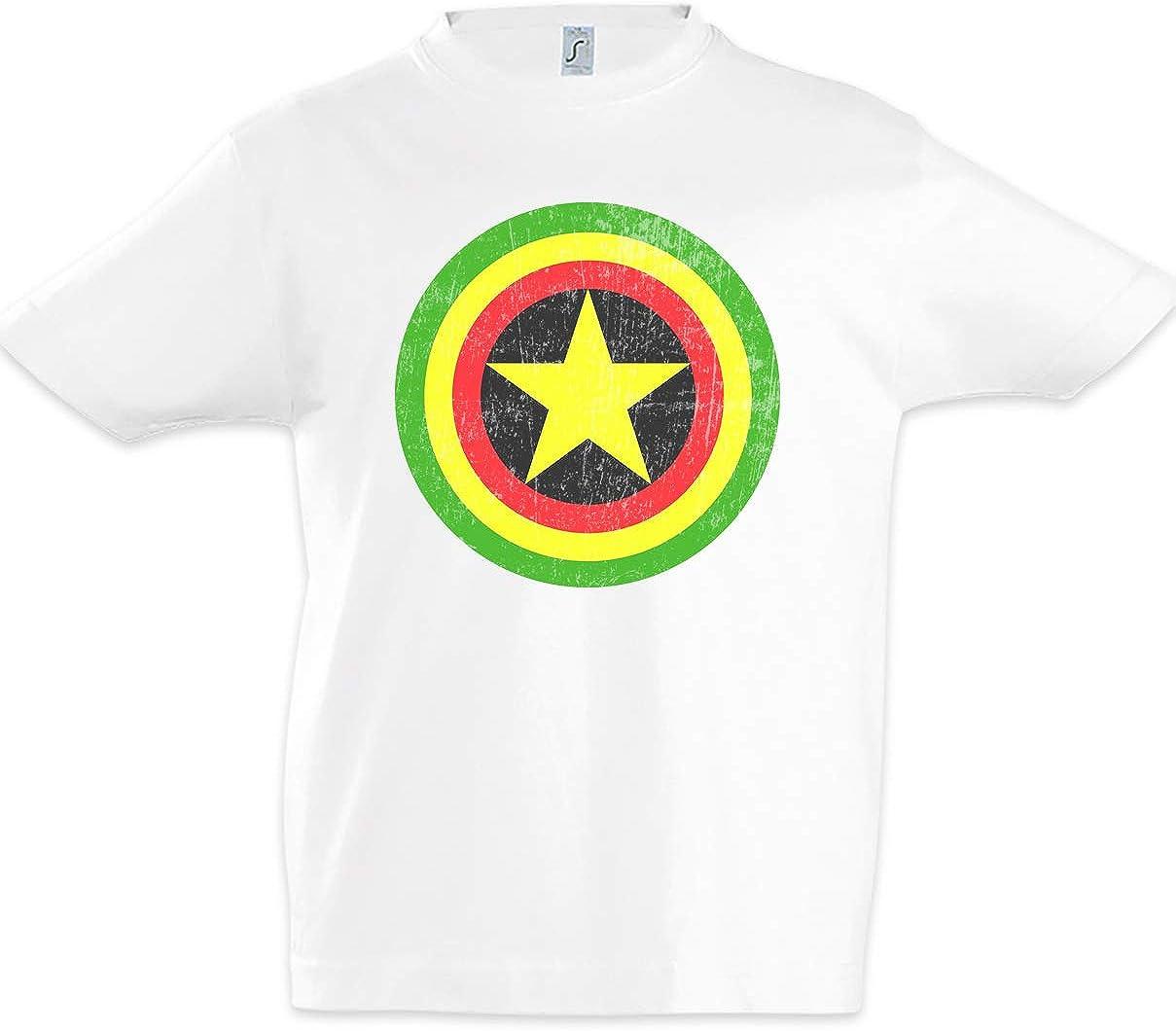 Urban Backwoods Captain Rasta Niños Chicos Kids T-Shirt: Amazon.es ...