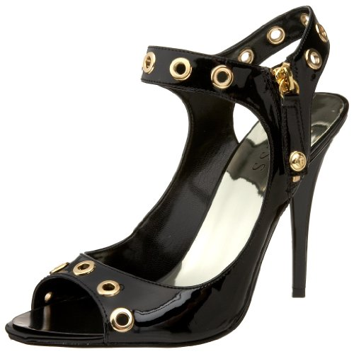 GUESS Women's Olympic2 Ankle-Strap Sandal,Black,9.5 M US (Ankle Sandals Guess Strap)