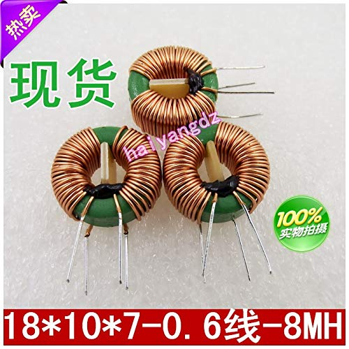 Maslin 3pcs//18107 8MH 0.6 Line Choke Coil Annular Common Mode inductors Ferrite Mn Zn Inductor 5A