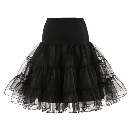 obiqngwi - Falda de Novia para Mujer, Falda de Tul, Negro, X-Large ...