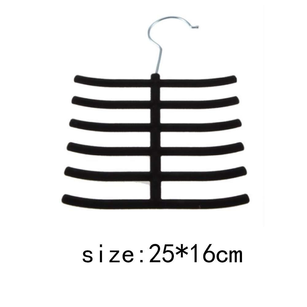 16cm Multi Schichten Schal Organizer Krawatte G/ürtel Aufh/änger Multifunktionales Silk Stockings Krawatte Aufh/änger f/ür Schrank Schwarz YaptheS Rack-25