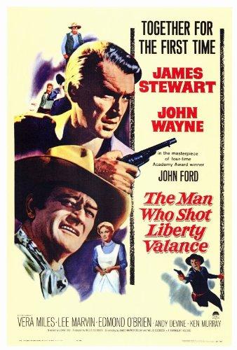 The Man Who Shot Liberty Valance Poster 27x40 James Stewart John Wayne Vera Miles