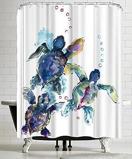 Americanflat Baby Sea Turtles 3 Shower Curtain By Suren Nersisyan 74 H X 71