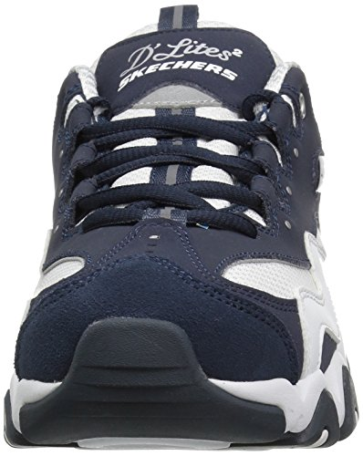 Skechers Sports Kvinners Dlites 2,0 Under Kontroll Mote Sneaker Navy / Hvit