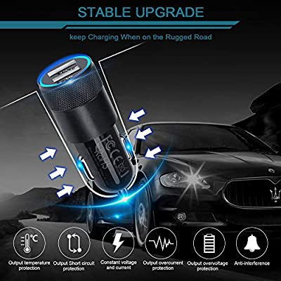 Car Charger, Ailkin 3.4a Fast Charge Dual Port USB Cargador Carro Lighter Adapter for iPhone X XR XS Max 8 Plus 7s 6s, 11 Pro Max, iPad, Tablet, Samsung Galaxy S10 Plus S7 j7 S10e S9 Note 8, LG, GPS: Home Audio & Theater