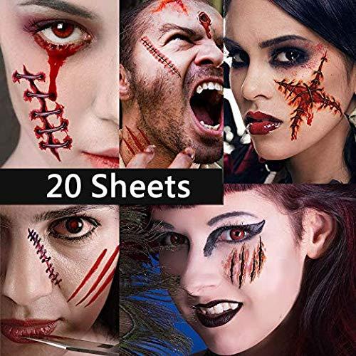 Tatuaje zombie para fiesta de Halloween y Cosplay