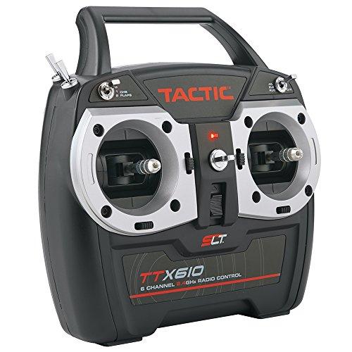 (Tactic TTX610 SLT 2.4GHz 6-Channel RC Air Radio System: 6CH Tx | TR625 6CH Rx | No Servos)