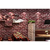 Store2508 3D Effect Textured Retro Brick Pattern Wallpaper (0.53 * 10m, Appx. 57 Sq Feet) (54702)