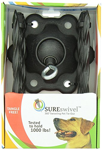 SUREswivel 360 degree Swiveling Pet Tie-Out, Made in the USA ()