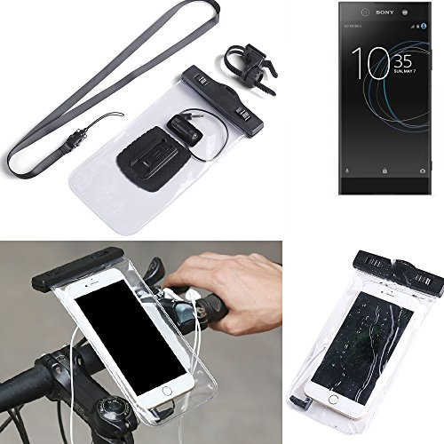 K S Trade For Sony Xperia Xa1 Ultra Dual Bicycle Bracket Mobile Phone Holder Handlebar Bike Bicycle Mount Rainproof Waterproof Connector For Headsets Motorcycle Smartphone Case Secure For Sony Xperi