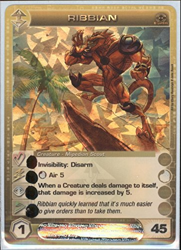 RIBBIAN Chaotic Super Rare Foil Card MAX ENERGY STAT OF 45 Zenith of the Hive