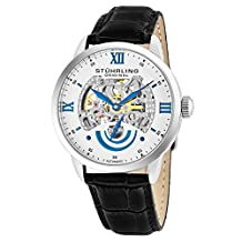 Stuhrling Original Men's 574.01 Symphony Aristocrat Executive II Automatic Skeleton Silver Dial Watch