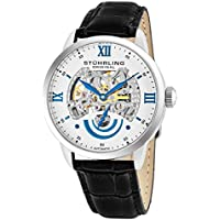 Men's 574.01 Executive II Automatic Skeleton Watch With Black Leather Band