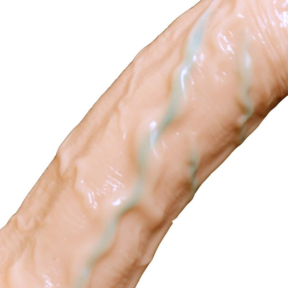 Simulador De Consolador De Silicona, Dispositivo Con De Vibración Femenina Con Dispositivo Vibración De Carga Por USB, Pene De Simulación Femenina De 18 Cm,Flesh ab134c