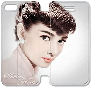 Premium Flip Ultra Slim Audrey Hepburn-8 iPhone 5 5S Leather Flip Case