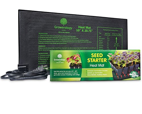 Growerology Seedling Heat Mat for Seed Germination, Cloning and Plant Propagation - BONUS Insulation Underlayment by Growerology