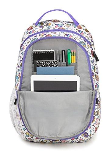 High Sierra Curve Backpack, Sweet Cakes/Lavender by High Sierra (Image #3)