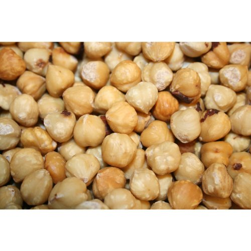 Hazelnuts Blanched Roasted Unsalted, 3Lbs by Bayside Candy