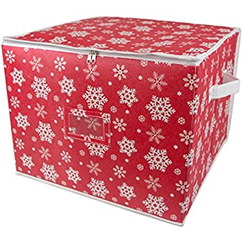 DII Holiday Ornament Storage Bin With Dividers U0026 Separators To Protect  Fragile Christmas Tree Decorations (