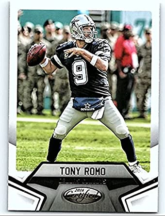 Amazon.com  2016 Panini Certified  2 Tony Romo Dallas Cowboys Football  Card  Collectibles   Fine Art c231ce65f
