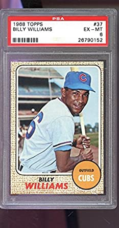 1968 Topps #37 Billy Williams Chicago Cubs Baseball Card