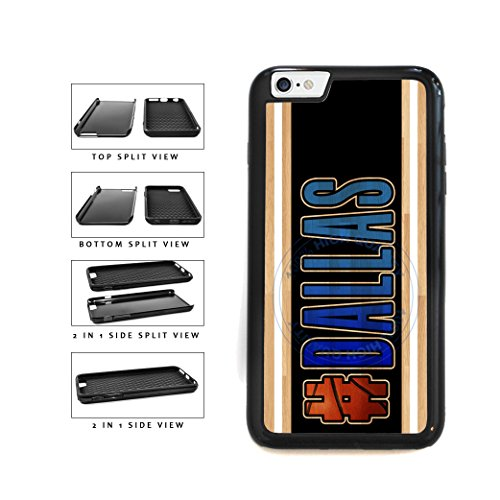 (BleuReign(TM) Basketball Team Hashtag Dallas #Dallas 2-Piece Dual Layer Phone Case Back Cover For Apple iPhone 6 Plus and iPhone 6s Plus (5.5 Inches Screen))