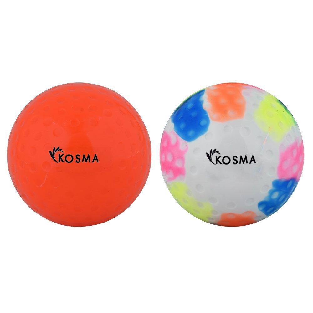 Kosma Lot de 2PC Dimple Balles de Hockey | Sports de Plein air PVC Practise Ballon d'entraînement