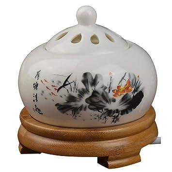 Amazon.com: Quemador de incienso de cerámica sin humo ...