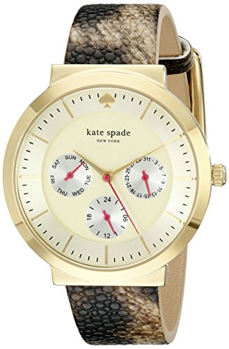 kate spade new york Women's 1YRU0511 Metro Watch With Stingray Leather Band
