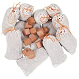 Household Essentials 35779-1 Cedar Wood Value Sachet Set, 12 Cedar Blocks and 12 Cedar Sachets, White