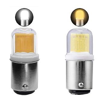Mini bombilla LED BA15D, 3W 220V AC, 300 lúmenes, lámpara LED COB 1511