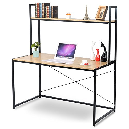 WOLTU 2-Tier Shelves Modern Home Office Desk Space Saving Computer Book Desk for Corner Use with Wooden by WOLTU