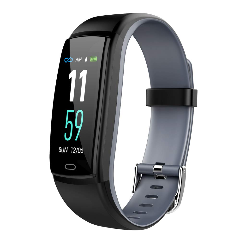 Fitness Tracker,Bluetooth 4.0 Waterproof Smart Bracelet with 0.96''Color Panel,Blood Pressure&Heart Rate Monitor, Pedometer, Sport Activity Tracker for iPhone X/8/7/6,iPad,Samsung Galaxy S9/S8/S7 etc..
