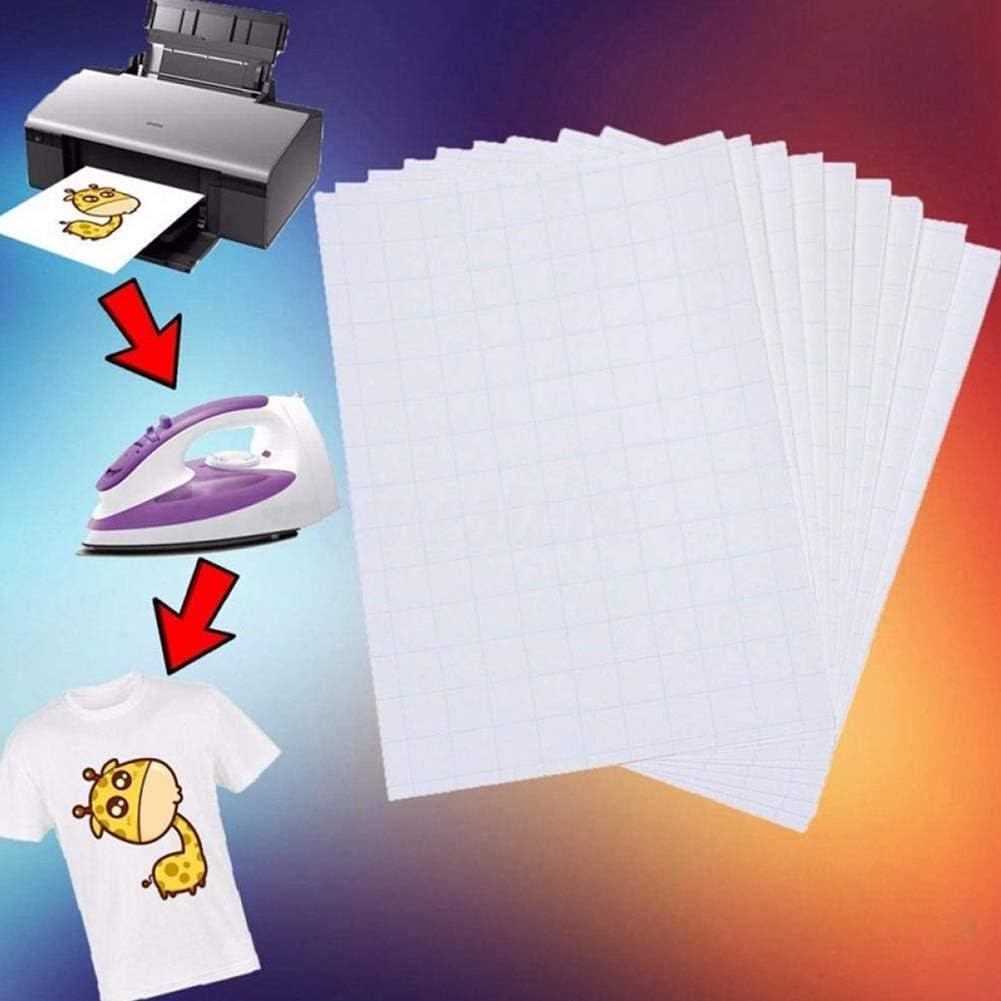 jet d/'encre impression sur tissu. puzzle de perles textile d/'int/érieur Lot de 20 feuilles de papier transfert pour t-shirt tasse en c/éramique peinture sur verre fibre chimique