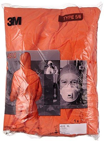 3M 4515OXL Schutzanzug, Typ 5/6, Größe XL, Orange