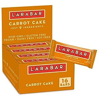 Larabar, Fruit & Nut Bar, Carrot Cake, Gluten Free, Vegan,1.6 Ounce (Pack of 16)