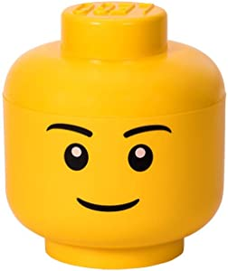 LEGO Storage Head Large, Boy, Yellow