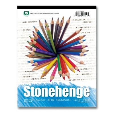 Stonehenge Pad bianco 5X7 15 fogli LEGION PAPER L21-STP250WH57