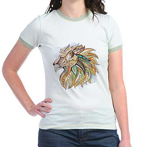Ringer T-shirt Kids Fish (Royal Lion Jr. Ringer T-Shirt Patterned Lion King of The Jungle - Mint/Avocado, Small)