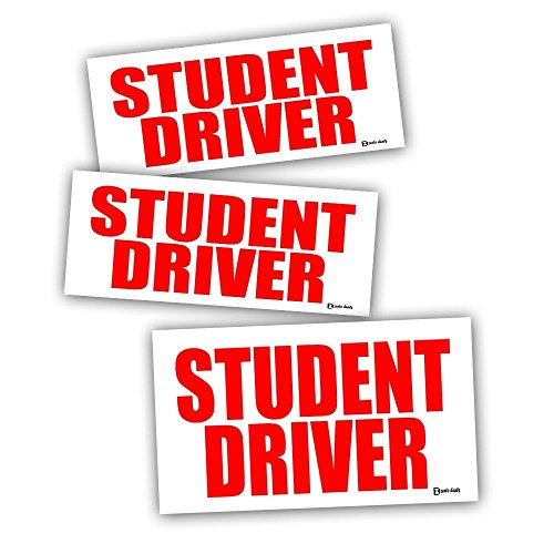 Zento Deals Magnetic Reflective Student Driver on Red Text over White Background
