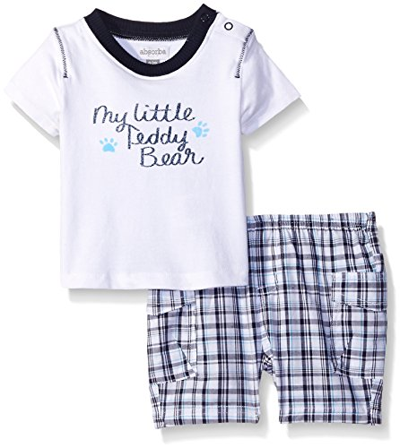 absorba Baby Boys Woven Knit Top and Short