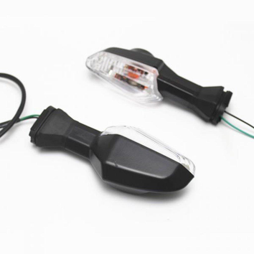 Shiwaki Indicador Intermitente De Luz De Se/ñal De 1 Par para El Kawasaki Ninja 300 Claro