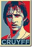 Yohann Cruyff Art Print 'Hope' Photographic Poster - Unique Art Gift - Football Soccer Johan - Size: 36 x 24 Inches (HUGE) - 91 x 60 cm