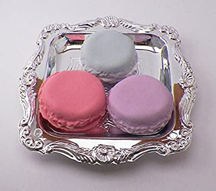 Amazon Com Pink Blue Purple Macarons Set Of 3 With Tray For 14 Inch And 18 Inch Dolls American Girl Journey Girls Our Generation Madame Alexander Wellie Wishers Hearts For Hearts Glitter Girls